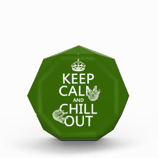 Keep Calm and Chill Out (sloth) (any color) Acrylic Award