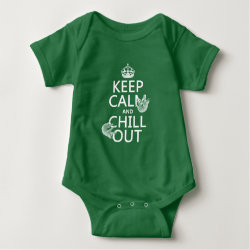 Keep Calm and Chill Out (sloths) Baby Jersey Bodysuit