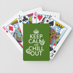 Playing Cards with Keep Calm and Chill Out (sloths) design