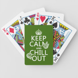 Keep Calm and Chill Out (sloths) Playing Cards