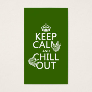 Keep Calm and Chill Out (sloth) (any color) Business Card