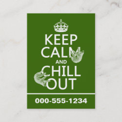 with Keep Calm and Chill Out (sloths) design