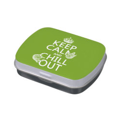 Rectangle Jelly Belly™ Candy Tin with Keep Calm and Chill Out (sloths) design
