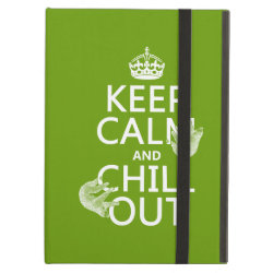 Keep Calm and Chill Out (sloths) iPad Air Powis Case