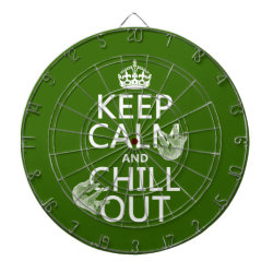 Megal Cage Dart Board with Keep Calm and Chill Out (sloths) design