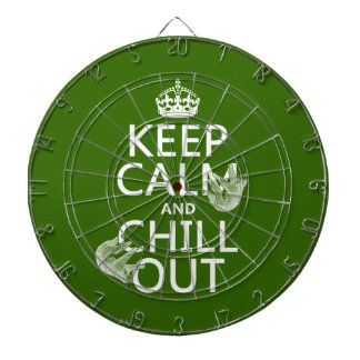 Keep Calm and Chill Out (sloth) (any color) Dartboard With Darts