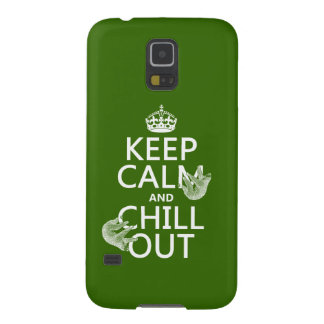 Keep Calm and Chill Out (sloth) (any color) Galaxy S5 Case