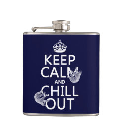Vinyl Wrapped Flask, 6 oz. with Keep Calm and Chill Out (sloths) design