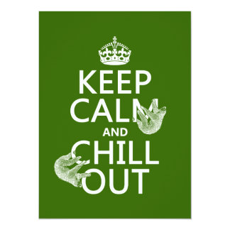 """Keep Calm and Chill Out (sloth) (any color) 5.5"""" X 7.5"""" Invitation Card"""