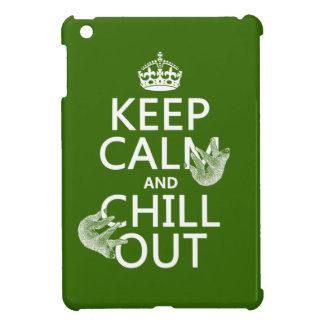Keep Calm and Chill Out (sloth) (any color) iPad Mini Cases