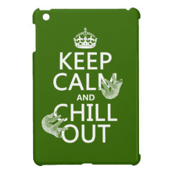 Case Savvy iPad Mini Glossy Finish Case with Keep Calm and Chill Out (sloths) design