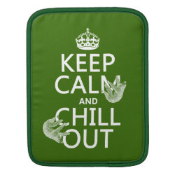 iPad Sleeve with Keep Calm and Chill Out (sloths) design