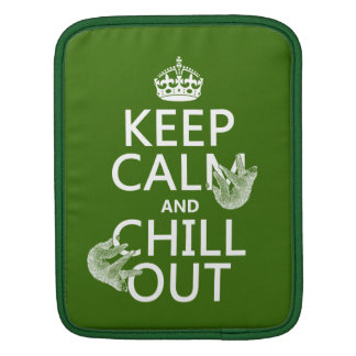 Keep Calm and Chill Out (sloth) (any color) iPad Sleeve