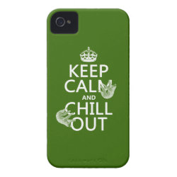 Case-Mate iPhone 4 Barely There Universal Case with Keep Calm and Chill Out (sloths) design