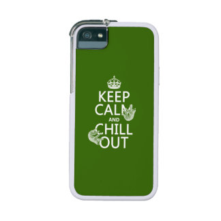 Keep Calm and Chill Out (sloth) (any color) iPhone 5 Cases