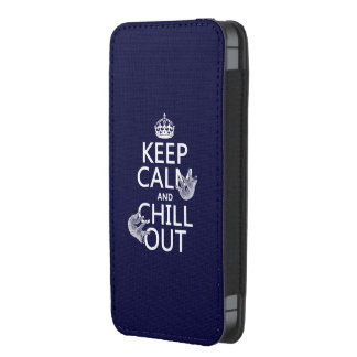 Keep Calm and Chill Out (sloth) (any color) iPhone 5 Pouch