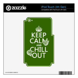 iPod Classic (80/120/160GB) Skin with Keep Calm and Chill Out (sloths) design