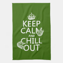 Keep Calm and Chill Out (sloths) Kitchen Towel 16