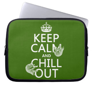 Keep Calm and Chill Out (sloth) (any color) Laptop Sleeve