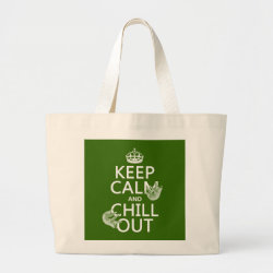 Keep Calm and Chill Out (sloths) Jumbo Tote Bag