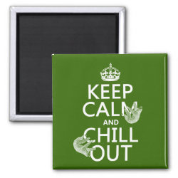 Keep Calm and Chill Out (sloths) Square Magnet