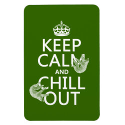 4'x6' Photo Magnet with Keep Calm and Chill Out (sloths) design