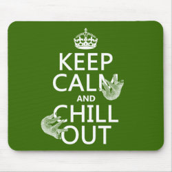 Mousepad with Keep Calm and Chill Out (sloths) design