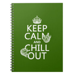 Keep Calm and Chill Out (sloths) Photo Notebook (6.5