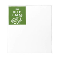 5.5' x 6' Notepad - 40 pages with Keep Calm and Chill Out (sloths) design