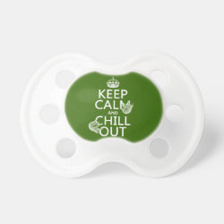Keep Calm and Chill Out (sloths) BooginHead® Custom Pacifier (6+ Months)