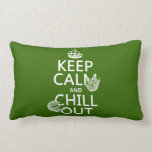 Keep Calm and Chill Out (sloth) (any color) Pillow