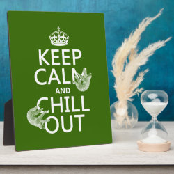 Photo Plaque 8' x 10' with Easel with Keep Calm and Chill Out (sloths) design
