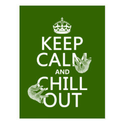 Keep Calm and Chill Out (sloths) Postcard