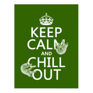Keep Calm and Chill Out (sloth) (any color) Post Cards