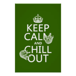 Matte Poster with Keep Calm and Chill Out (sloths) design