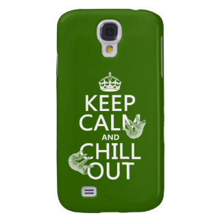 Keep Calm and Chill Out (sloth) (any color) Samsung Galaxy S4 Case