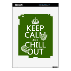 Amazon Kindle DX Skin with Keep Calm and Chill Out (sloths) design