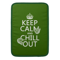 Macbook Air Sleeve with Keep Calm and Chill Out (sloths) design