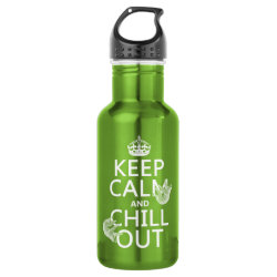 Water Bottle (24 oz) with Keep Calm and Chill Out (sloths) design