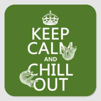 Keep Calm and Chill Out (sloth) (any color) Sticker