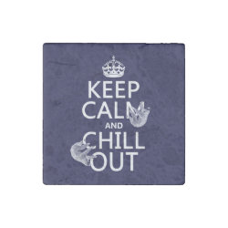 Marble Magnet with Keep Calm and Chill Out (sloths) design