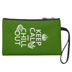 Sueded Mini Clutch with Keep Calm and Chill Out (sloths) design