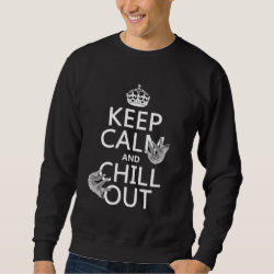 Men's Basic Sweatshirt with Keep Calm and Chill Out (sloths) design