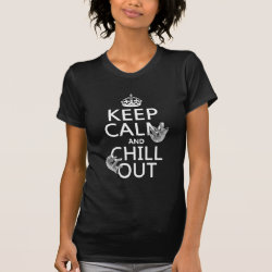 Women's American Apparel Fine Jersey Short Sleeve T-Shirt with Keep Calm and Chill Out (sloths) design