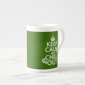 Keep Calm and Chill Out (sloth) (any color) Tea Cup
