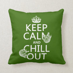 Cotton Throw Pillow with Keep Calm and Chill Out (sloths) design