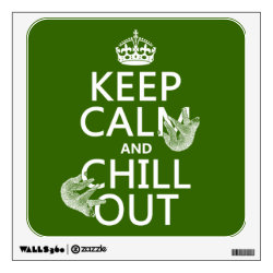 Walls 360 Custom Wall Decal with Keep Calm and Chill Out (sloths) design