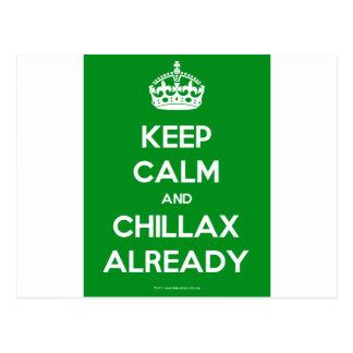 Keep-Calm-And-Chillax-Already.pdf Postcard