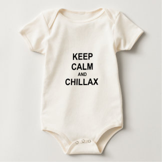 Keep Calm and Chillax black gray blue Baby Bodysuit