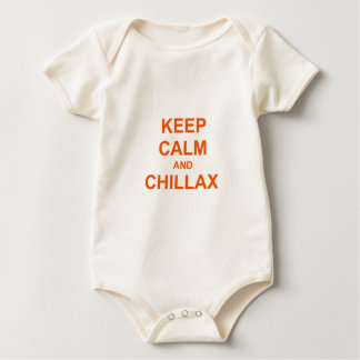 Keep Calm and Chillax orange pink red Baby Bodysuit